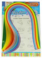 Бумага для квиллинга 7 мм 12 цветов Б208/23