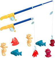 Игровой набор - МАГНИТНАЯ РЫБАЛКА ДЕЛЮКС (2 удочки, 8 морских животных) (BT2433Z)