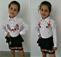 Блузка-вышиванка для девочки №612 (р.116-128)