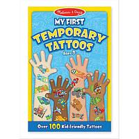 Мои первые временные татуировки Melissa & Doug, 100 шт., голубые (MD2947) (MD2947)