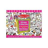 Большой набор наклеек для девочек  800 шт   Melissa Doug (MD4247)