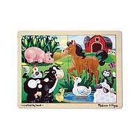 Деревянный пазл «На ферме» Melissa&Doug (MD2934)