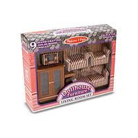 Набор мебели ручной работы для гостиной Викторианского домика Melissa&Doug (MD2581)