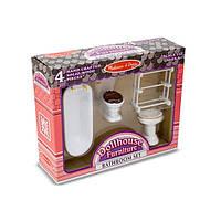 Набор мебели ручной работы для ванной комнаты Викторианского домика Melissa&Doug (MD2584)