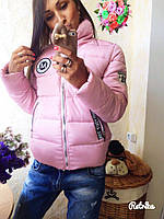 Молодежная короткая куртка с буквой М