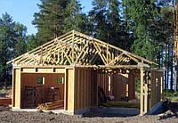 Строительство каркасно-щитовых гаражей по канадской технологии.Цена каркаса с монтажем по площади пола.