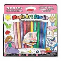 """Волшебный набор для девочек """"Раскраска, наклейка, трафарет"""" (MD5500)"""