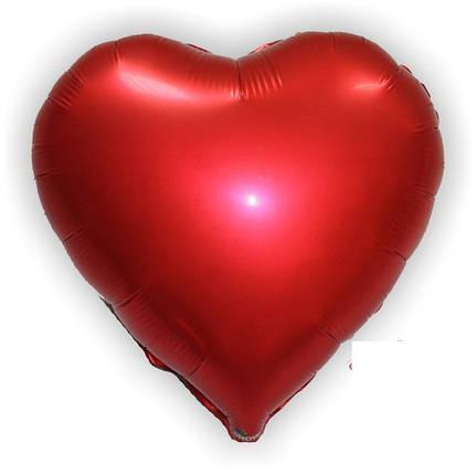 """Куля """"Червоне серце"""" надутий гелієм 40см, фото 2"""