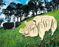 Свиня (сборая модель) Мир деревянных игрушек (М012)