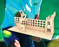 Тенисист (сборная модель) Мир деревянных игрушек (С007)