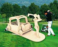 Игрок в гольф (сборная модель) Мир деревянных игрушек (С008)