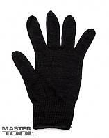 Перчатки х/б 7 кл, 3 нити черные зимние Mastertool 83-0303