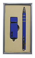 "Набор подарочный ручка и флешка на 4 Гб ""Синяя"""