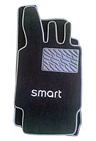 Текстильные коврики на SMART увеличенные серый рант