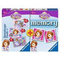 """Набор картонных пазлов с аксессуарами """"Memory Дисней 3 в 1 Принцессы"""", Ravensburger 07358R (07358R)"""