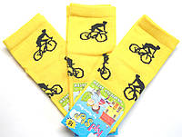 Желтые детские носки велосипедист