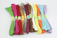 Рафия-канат джутовый  25м цветной 6891