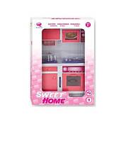 """Кукольная кухня """"Современный дом"""" (розовая), Qun Feng Toys. (2560Р)"""