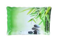 Тарелка прямоугольная с волнистым краем 21*31см Зеленый бамбук. Набор 6 шт