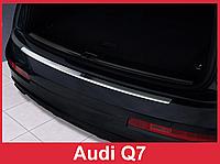 Накладка на задний бампер из нержавейки AUDI Q7 2006 - 2009