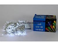 Новогодняя гирлянда LED 200 W (200 светодиодов) цвет белый, светодиодная гирлянда, гирлянда led белая