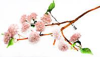 Соцветия калины 76см розовый