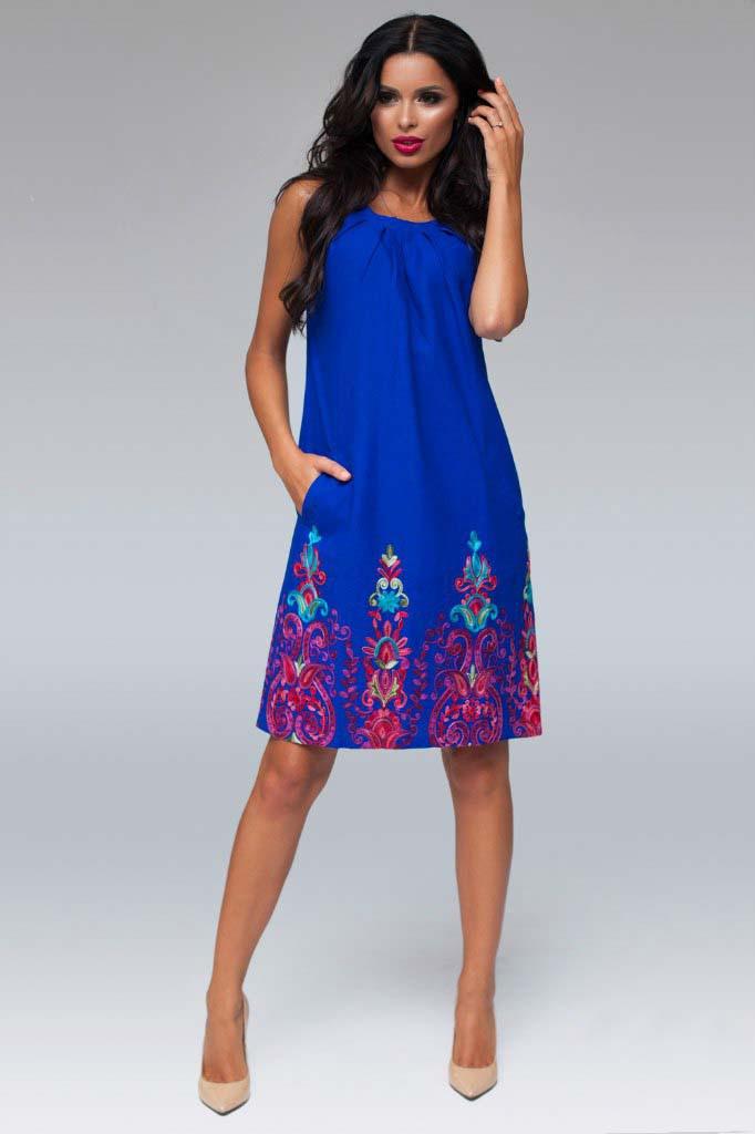 Женское платье из льна больших размеров