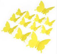 Эксклюзивные бабочки для декора желтый.