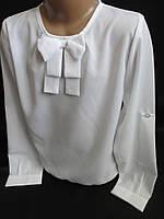 Нарядные белые блузочки с бантом.