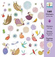 Набор наклеек 160 штук 'Крылышки и перышки' (DJ08832)