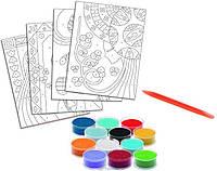 Художественный комплект-рисование цветным песком 'Голубые принцессы' (DJ08637)