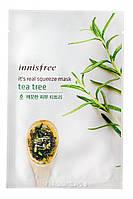 Innisfree It's Real Squeeze Mask Tea Tree Маска с экстрактом чайного дерева