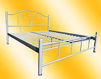 Кровать металлическая Медея двуспальная 1600х1900/2000, Черный (глянец, матовый)