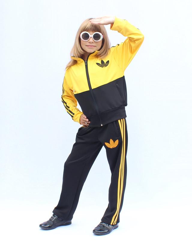 - детский спортивный костюм с цветным верхом - желтый -