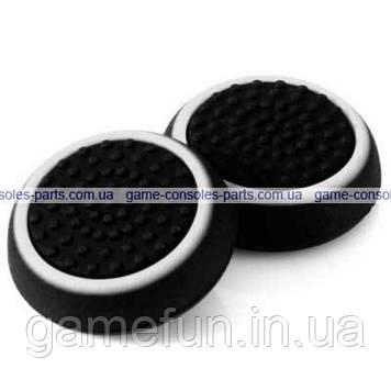 PS4 силіконові накладки на стіки dualshock 4 (Black-White) (2шт)