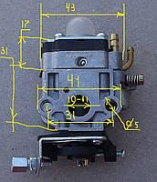 Карбюратор к мотокосе (маленькое отверстие 10-11мм)