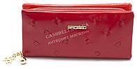 Ярко красный горизонтальный удобный женский кошелек барсетка на молнии FUERDANNI art. 2850