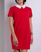 Платье с белым воротником | Дионис lzn красный
