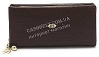 Прочный женский кошелек барсетка на молнии коричневого цвета FUERDANNI art.1217