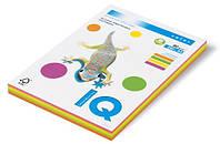 Бумага цветная А4, 80 г/м2, 200 листов. (4*50), неон ассорти. MONDI