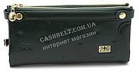 Прочный женский кошелек на молнии зеленого цвета SACRED art.80003