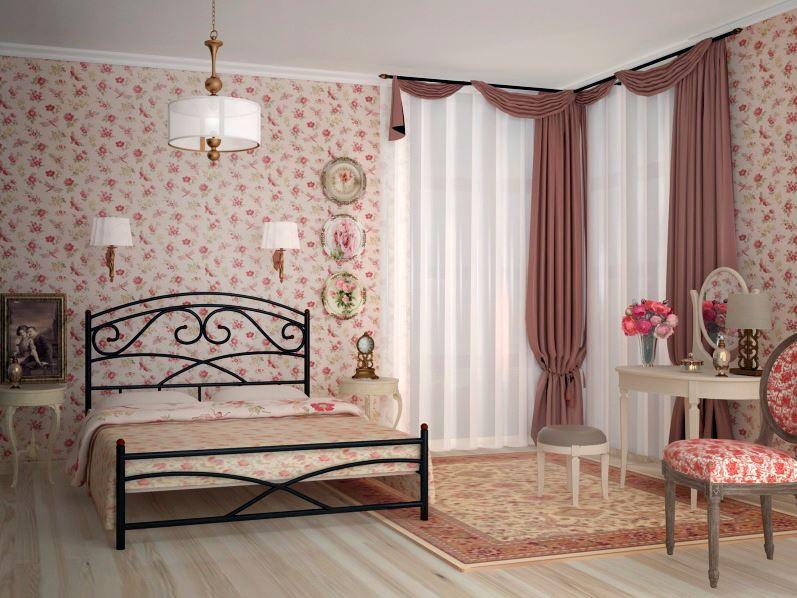 Кровать металлическая Лейла двуспальная - Матрас Диван - мебельный интернет магазин в Киеве