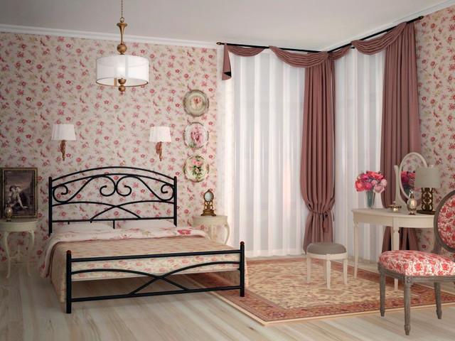 Кровать металлическая Лейла двуспальная