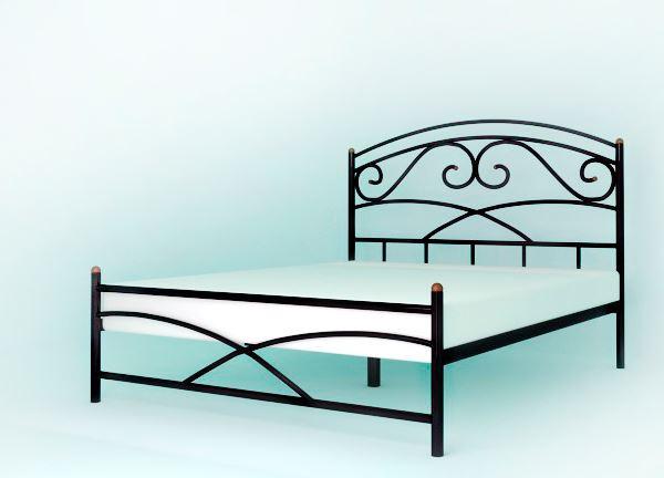 Кровать металлическая Лейла двуспальная без матраса