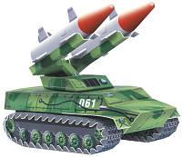 Сборная игровая модель из картона 'Зенитно-ракетный комплекс' серии Военная техника (061)