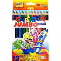 """Jumbo"""" 12 шт Кольорові олівці коробка (41406)"""