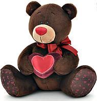 Медведь, сидящий с сердечком, 25 см, Choco & Milk, Orange (C003/25)