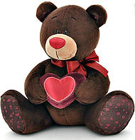Медведь, сидящий с сердечком, 30 см, Choco & Milk, Orange (C003/30)
