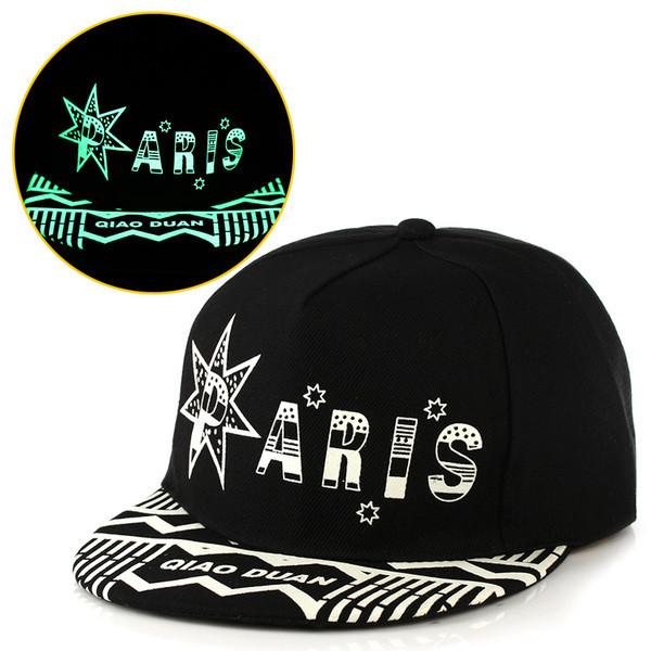 Кепка светящаяся  черная Paris