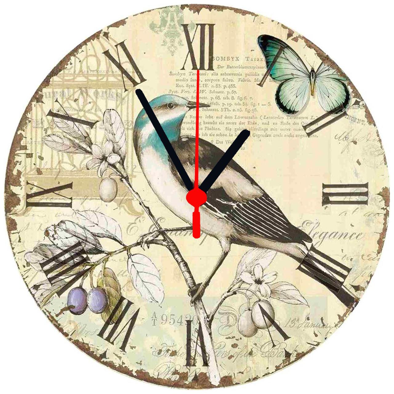 """Настінні годинники на склі """"Іволга"""""""